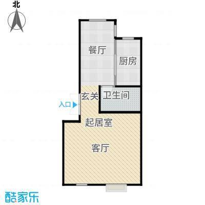 通用陆院90.00㎡G户型2室2厅2卫
