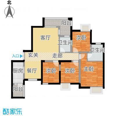 金辉悦府105.49㎡户型10室