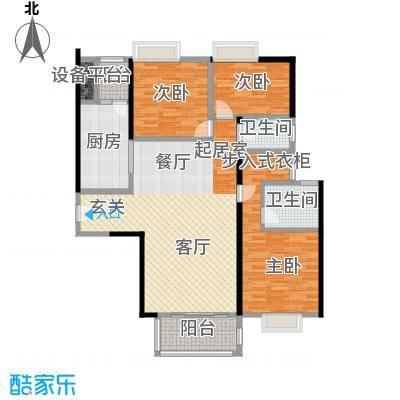 尚东峰景二期B1栋03单位户型3室2卫1厨