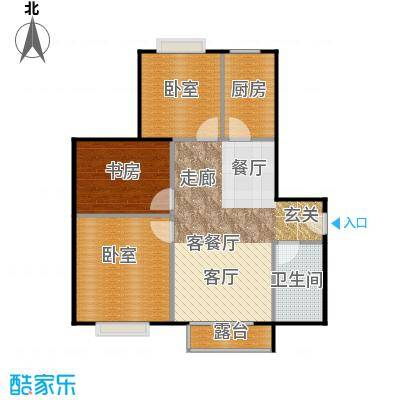 北京明发广场102.04㎡B2户型1室1厅1卫1厨