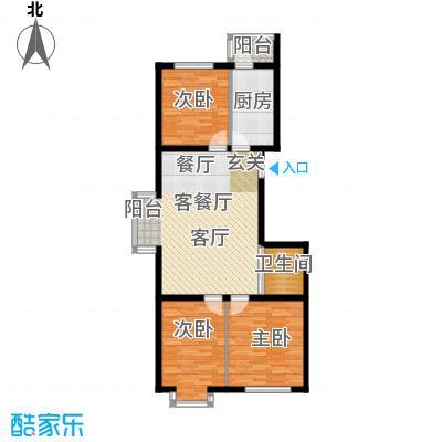 滨海未来城103.22㎡a户型3室2厅1卫