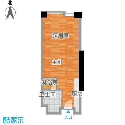 保利中汇广场43.16㎡户型1卫