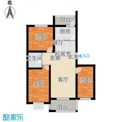港东未来城113.74㎡B3户型3室2厅1卫