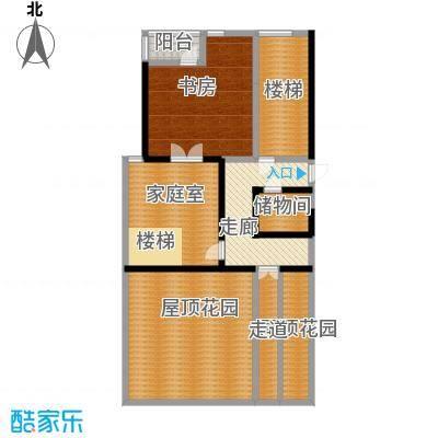 山水文园东园10号楼1201跃层户型