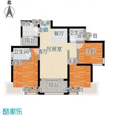 龙湖紫都城户型3室2卫1厨
