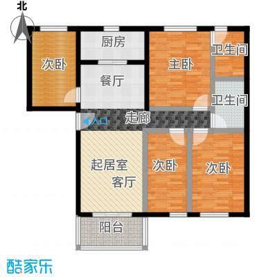 祈福新村99.69㎡22263242栋2&3/F2830栋2/F-02户型4室2卫1厨