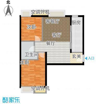 天津湾海景雅苑92.14㎡B4\' 2室2厅1卫户型