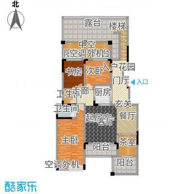 鸥鹏华府148.34㎡墅质洋房A-2户型3室2厅2卫1厨 148.34㎡户型3室2厅2卫