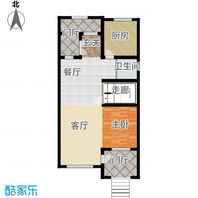 万通龙山逸墅97.37㎡2F户型1室2厅1卫