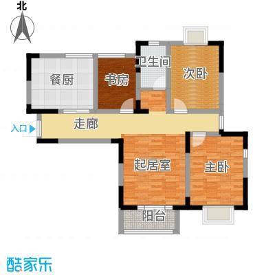 剑桥港湾113.00㎡高层C2户型3室2厅1卫