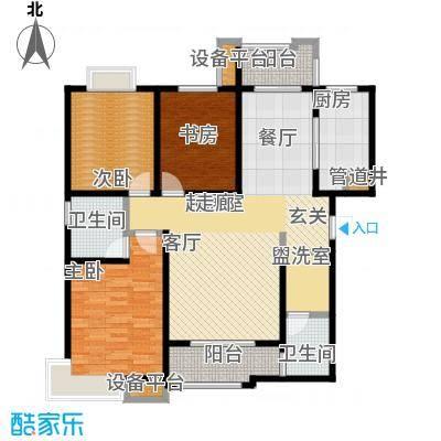 西安公馆3.4号楼134平米D户型