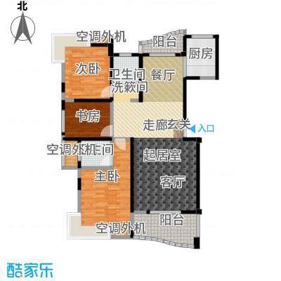 荣宏富家130.00㎡4、5、8号楼C1户型3室2厅2卫