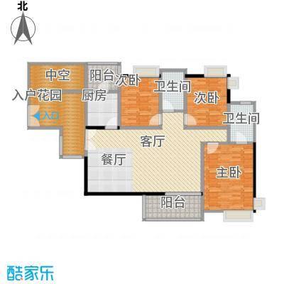金域中央天玺129.07㎡户型3室1厅2卫1厨