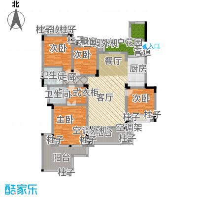 龙湖源著三期龙湖大道145.00㎡龙湖源著户型图一期D2栋楼标准层2户型4室2厅2卫1厨135.00平米(3/12张)户型4室2厅2卫