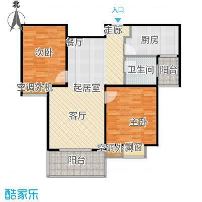 沁水新城93.51㎡沁水新城户型图二房-150套(9/13张)户型10室