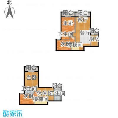 汇景上层140.34㎡户型4室1厅3卫1厨