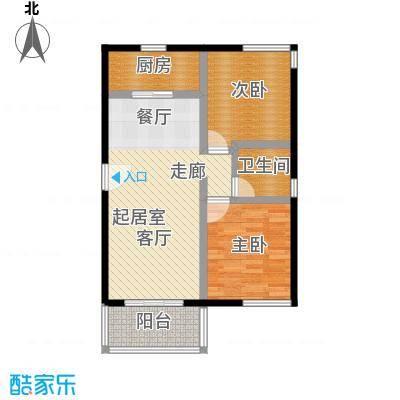 祈福新村69.62㎡21253141栋2&3/F2729栋3/F-02户型2室1卫1厨
