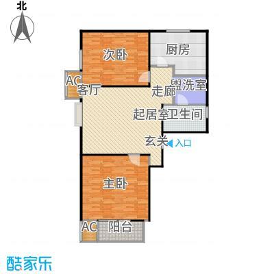 中兴泊仕湾108.00㎡1号楼标准层A户型2室1厅1卫户型2室2厅1卫