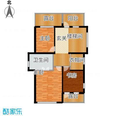 金隅乐府110.51㎡坡地别墅入户上层平面户型10室