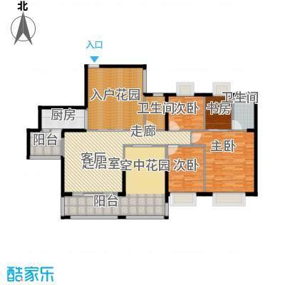 泊岸君庭157.30㎡5栋01单位户型4室2卫1厨