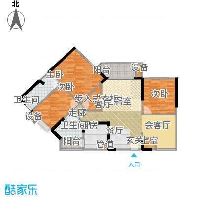 香榭国际81.90㎡2011年2期1批次A2户型81.90㎡(赠送43.84㎡)3室2厅1卫户型3室2厅1卫