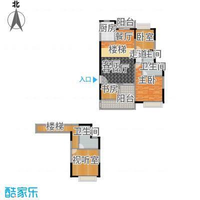 汇景上层户型2室1厅3卫1厨