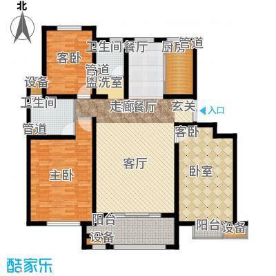 首创珐�墅140.00㎡洋房A5户型 五层户型2室2厅2卫