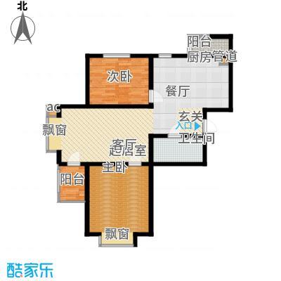 盛唐府邸D-42室2厅1卫100.00㎡户型