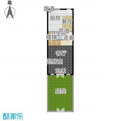 绿地壹中心104.00㎡A 香榭 1层平面图户型