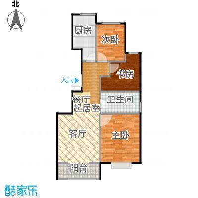 旭辉朗悦湾90.00㎡D户型3室2厅1卫