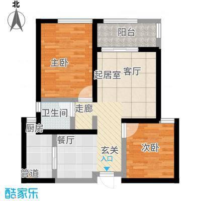 龙湖紫都城11号楼户型2室1卫1厨