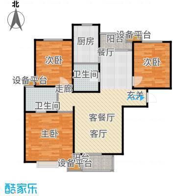 清谷107.00㎡三室两厅两卫户型