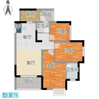 金辉悦府92.56㎡户型10室