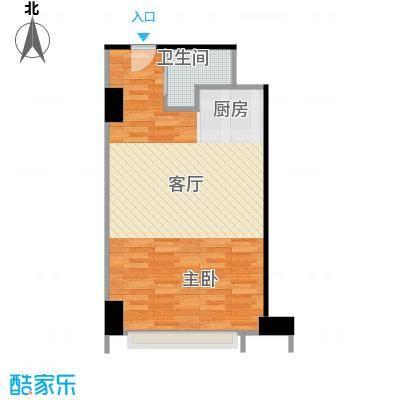 两江国际59.00㎡D户型1室1卫