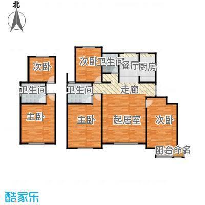 首创玲珑墅124.00㎡洋房A6六层户型3室2厅2卫
