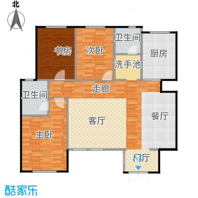 听涛苑120.00㎡A1户型3室2厅2卫