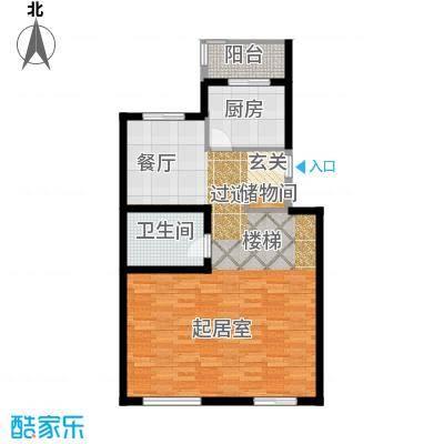 龙顺御墅76.51㎡Bd单元首层平面图户型10室