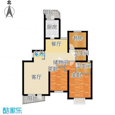 仁恒海河广场119.51㎡峰云阁--E2/E2\\\'-户型3室2厅2卫