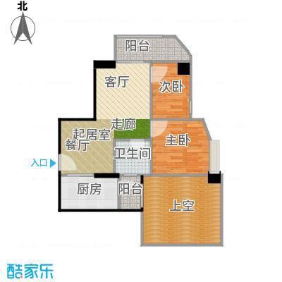 幸福立方71.00㎡14-21层08单元户型2室1卫1厨