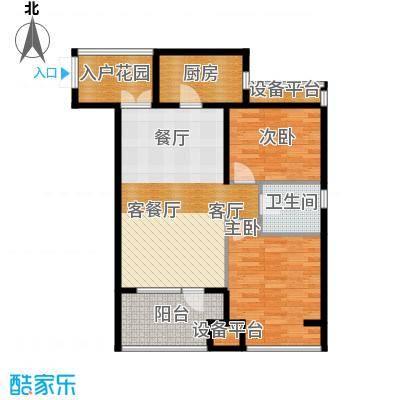 永泰枕流GOLF公寓96.19㎡一期6-7号门标准层I户型2室2厅1卫