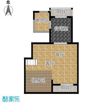 融科瀚棠91.00㎡8层洋房C1下层户型2室2厅1卫