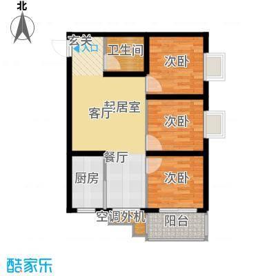 东方花园87.91㎡东方花园户型图H户型(1/9张)户型3室2厅1卫