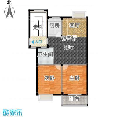 颐和名苑91.61㎡01#楼2g户型2室1厅1卫1厨