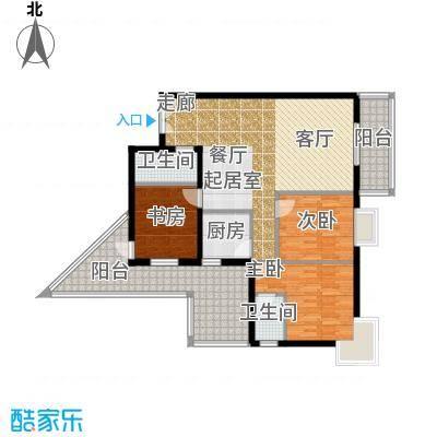 曲江易公馆112.13㎡A3户型3室2厅2卫