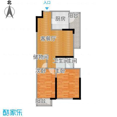 万科城85.00㎡2期ABC栋2-30层户型2室2厅1卫