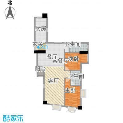 荔景华庭A栋14~15层01户型2室1厅2卫1厨