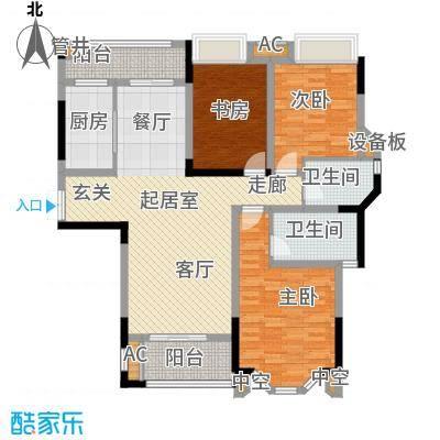 龙湖花千树龙湖花千树户型图C2套内面积约107㎡三室两厅两卫(3/9张)户型3室2厅2卫