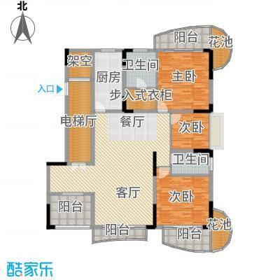大学城馨园175.30㎡B2栋02单元2-13层标准层户型3室1厅2卫1厨