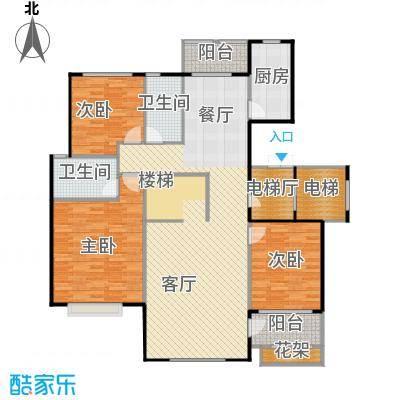 乡居假日二期香醍园155.01㎡F\'上跃下层户型3室2厅2卫