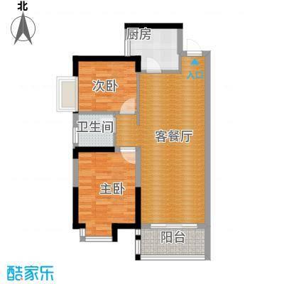兰亭熙园81.00㎡78栋23号9栋34号户型2室1厅1卫1厨